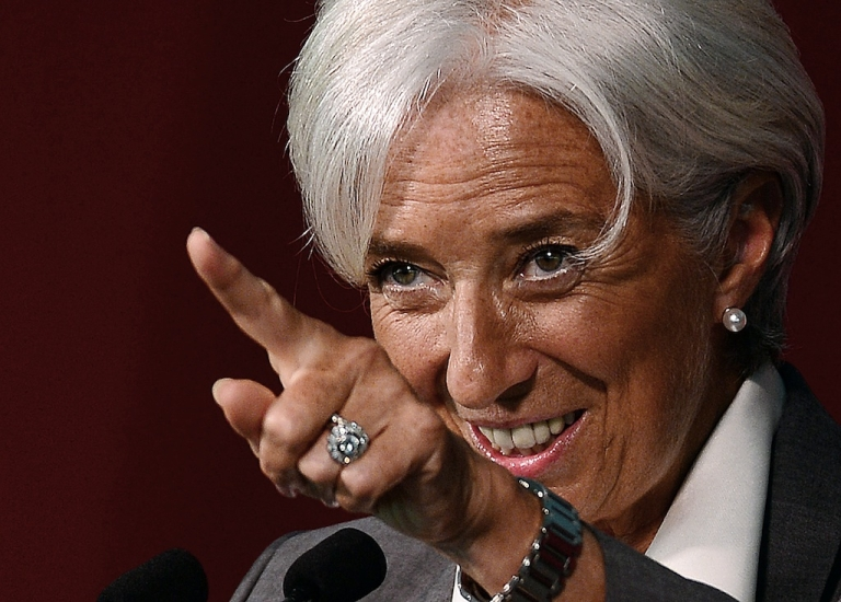 <p>Christine Lagarde points the finger at the Greeks in an interview with the Guardian.</p>