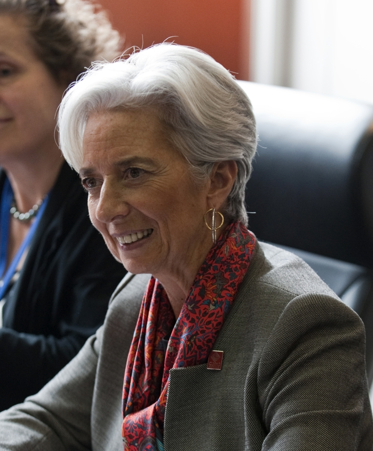 <p>International Monetary Fund Managing Director Christine Lagarde at a G20 finance ministers and central bank governors meeting event in Mexico City, on February 25, 2012.</p>