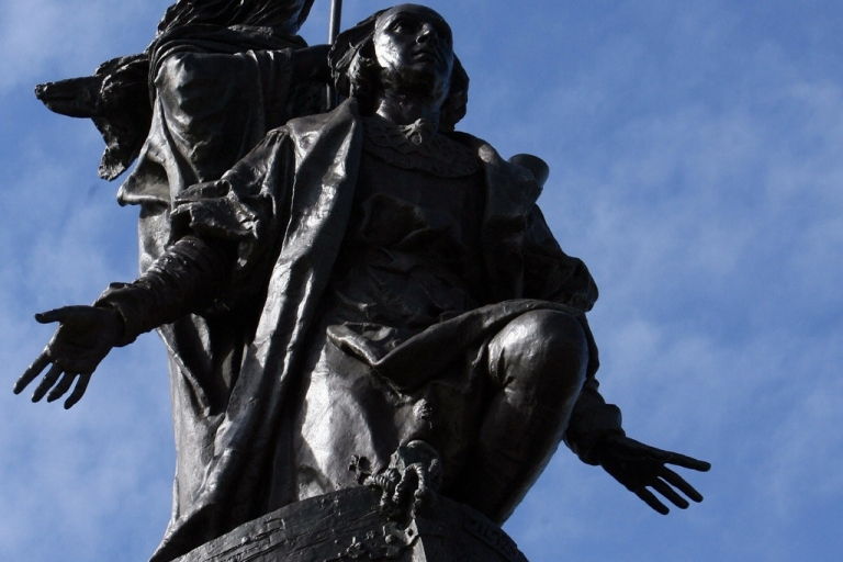 <p>A 1905 statue of Columbus in the main square of Valladolid, Spain.</p>