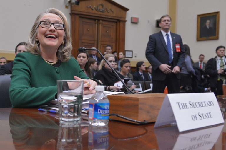<p>US Secretary of State Hillary Clinton testifies on Jan. 23 before the House Foreign Affairs Committee on the Sept. 11, 2012 attack on the US mission in Benghazi, Libya in the Rayburn House Office Building.</p>