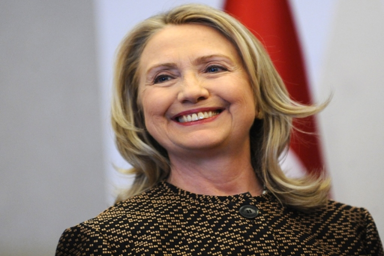 <p>US Secretary of State Hillary Clinton launched the Women in Public Service Project, which aims to have half the world's elected seats held by women in 2050. Clinton is pictured here at a press conference on June 7.</p>