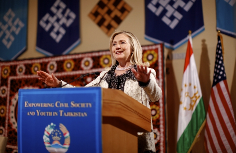 <p>Secretary of State Hilary Clinton warns Iran against misreading the Iraq troop withdrawal.</p>