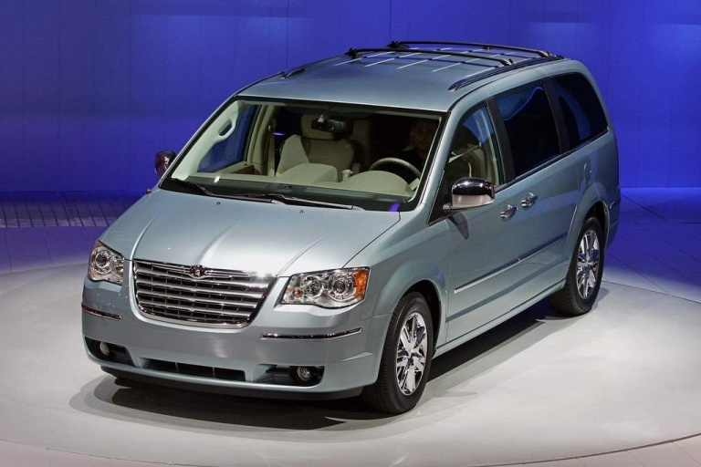 <p>Chrysler's 2008 Town and Country Mini-Van is shown during the press days at the North American International Auto Show at Cobo Hall in Detroit, Michigan in 2007.</p>