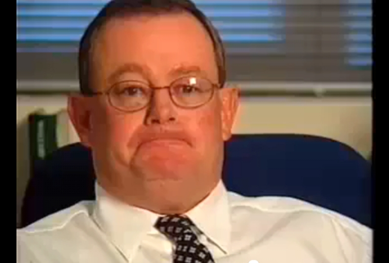 <p>Col Allan appears in this still image taken from a YouTube video of a television broadcast in Australia during his tenure as editor of that country's Daily Telegraph.</p>