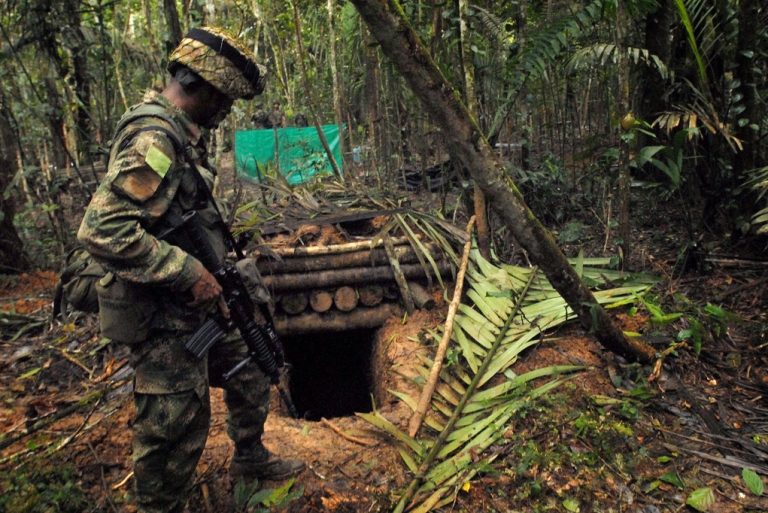<p>GlobalPost hopes Jhon's underground bunker is as good if not better than this hideout used by Colombia's leftist FARC guerrillas, found in 2009 in the South American country's Meta department.</p>