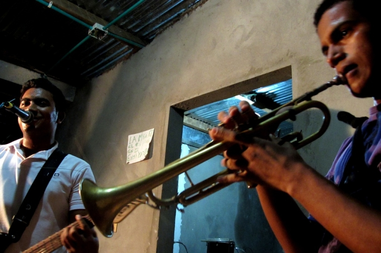 <p>Members of the band Palabra Andante at band practice in Puerto Wilches, Colombia.</p>