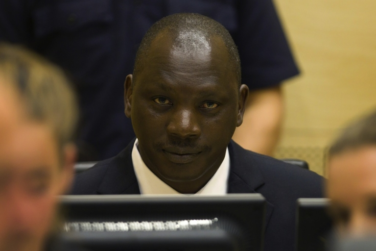 <p>Congolese warlord Thomas Lubanga sits in the courtroom of the International Criminal Court in the Hague, on Aug. 25, 2011.</p>