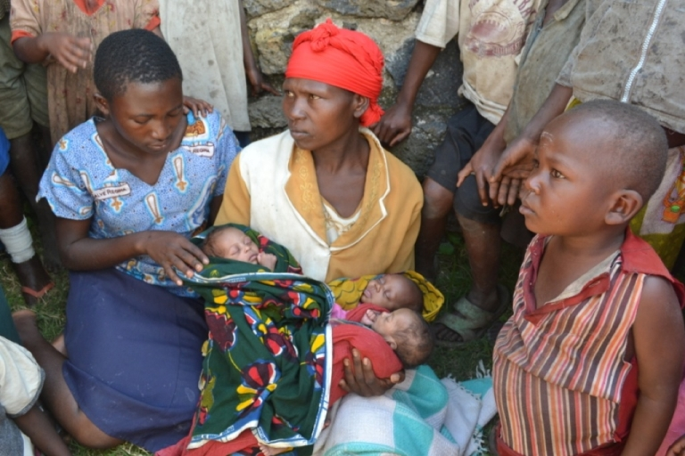 <p>Esther and her newborn triplets seek refuge from the burgeoning conflict in eastern Congo.</p>