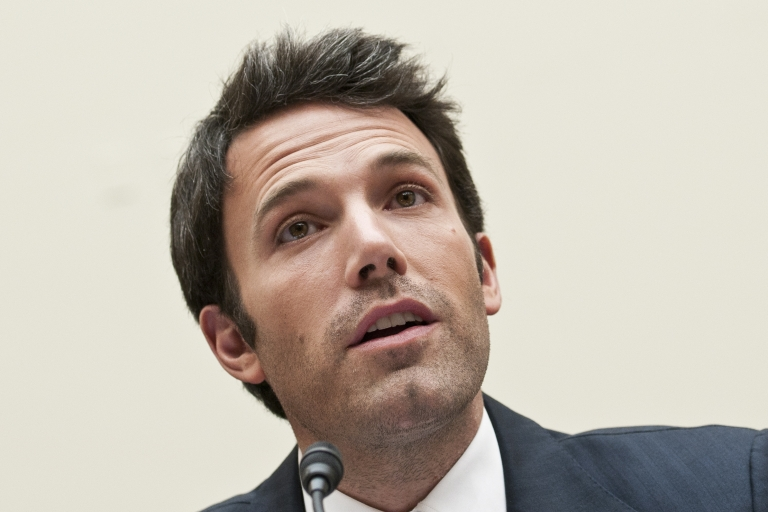 <p>Ben Affleck testifies during a House Foreign Affairs committee hearing on