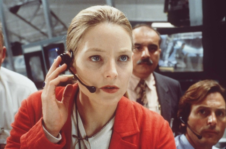 <p>Jodie Foster as Ellie Arroway in 'Contact,' a film based on the best-seller by Carl Sagan.</p>