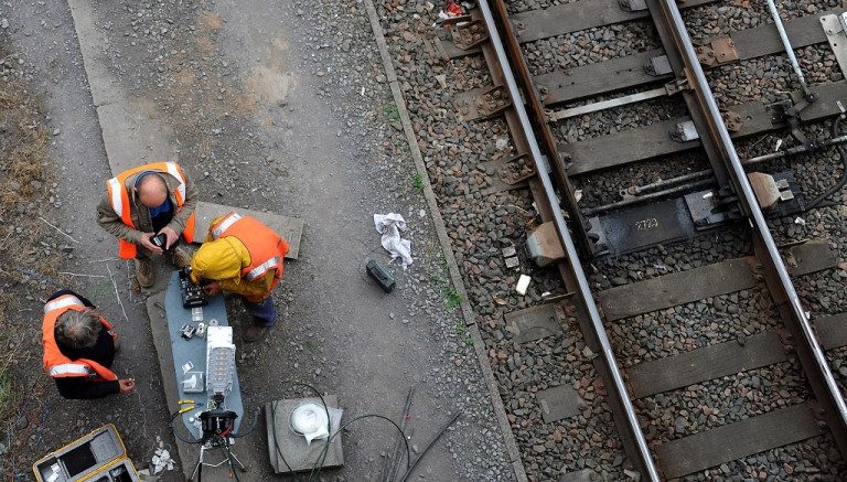 <p>Repairmen in France work to replace metal stolen from French railways.  As copper prices shoot up, an epidemic of metal thievery is plaguing parts of Europe.</p>