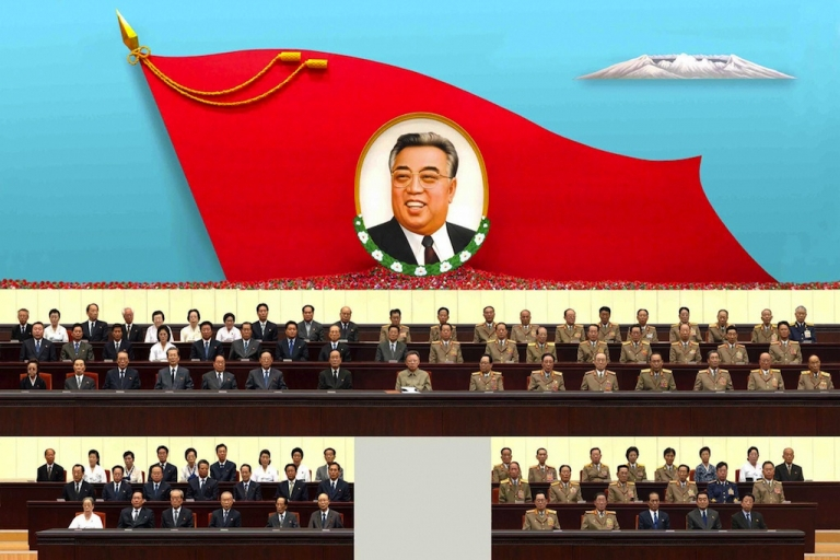 <p>#182 — North Korea<br /> North Korean leader Kim Jong-Il, accompanied by senior officials of the Workers' Party of Korea and Korean People's Army officials, attends the 15th anniversary memorial service of the country's late President Kim Il-Sung at the Pyongyang gymnasium on July 8, 2009.</p>