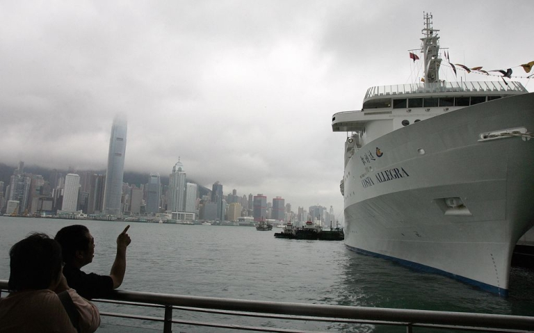 <p>The Costa Allegra docked in Hong Kong prior to its maiden voyage, on May 29, 2006.</p>