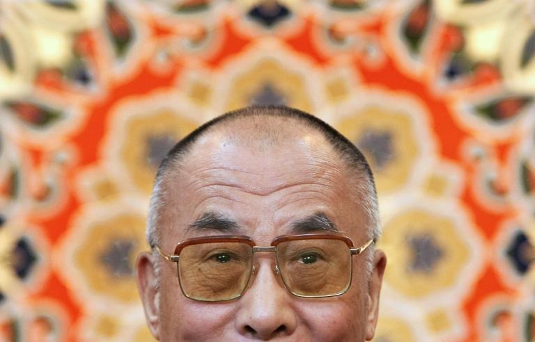 <p>Tibetan spiritual leader the Dalai Lama addresses journalists in Dharamsala on November 23, 2008.</p>