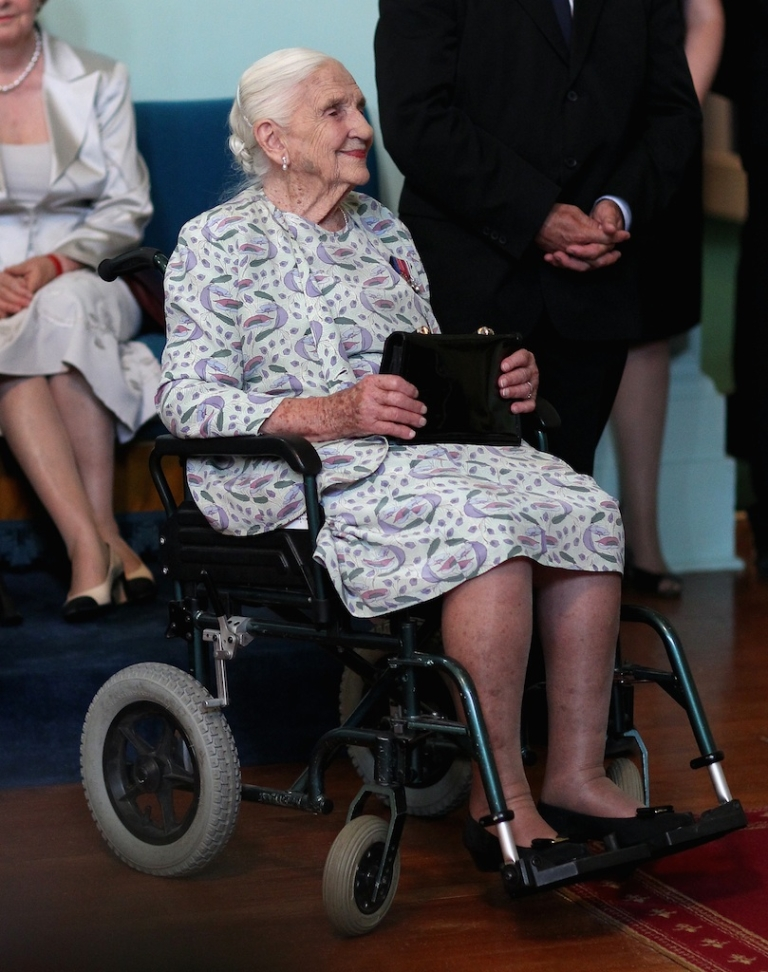 <p>Dame Elizabeth Murdoch attends an Australia Day reception at Government House on January 21, 2010 in Melbourne, Australia. She died Wednesday at age 103.</p>