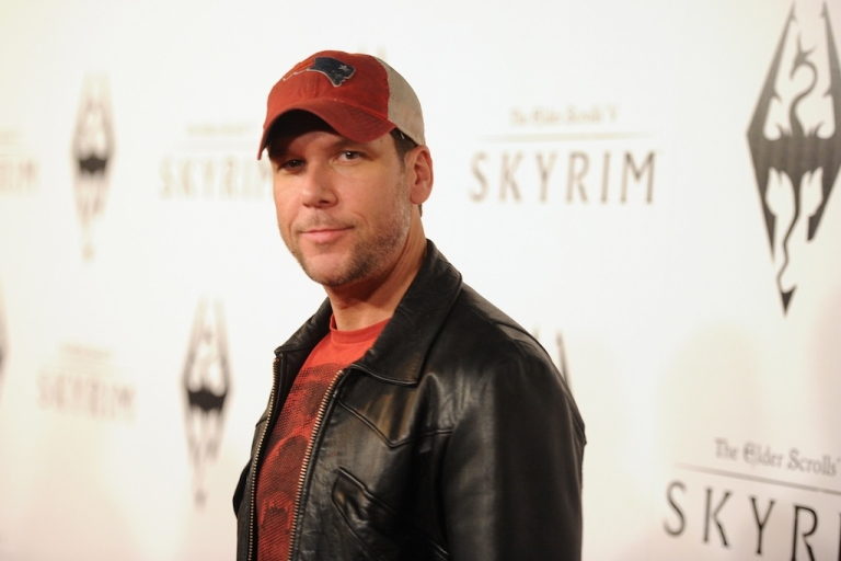 <p>Comedian Dane Cook arrives at the official launch party for the most anticipated video game of the year, The Elder Scrolls V: Skyrim, at the Belasco Theatre on November 8, 2011 in Los Angeles, California.</p>