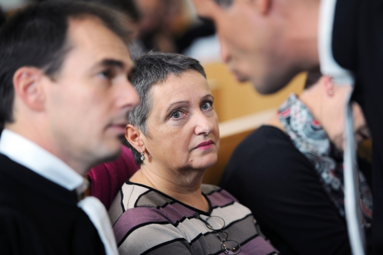 <p>French psychiatrist Daniele Canarelli in court in Marseille. She was found guilty of manslaughter after one of her patients committed murder, to the concern of other medical professionals.</p>