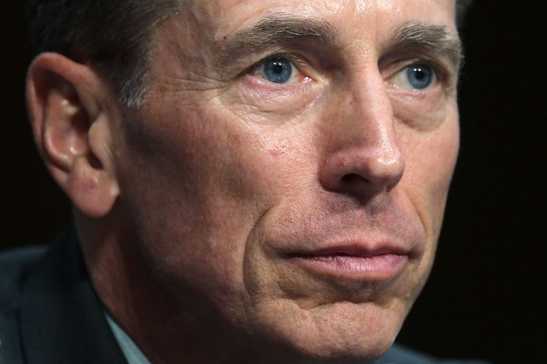<p>Gen. David Petraeus listens during his confirmation hearing before the Senate Select Intelligence Committee June 23, 2011 on Capitol Hill in Washington, DC. Gen. Petraeus will become the director of the Central Intelligence Agency if confirmed.</p>
