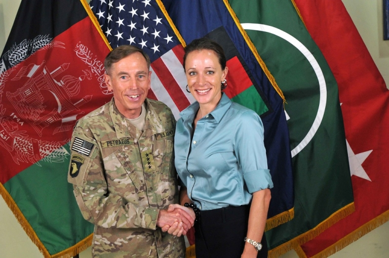 <p>A complaint by a friend of the Petraeus family, Jill Kelley, that she was receiving harassing emails would eventually lead FBI investigators to correspondence between David Petraeus and his biographer, Paula Broadwell, that revealed they had had an affair. This picture shows them together in July 2011.</p>