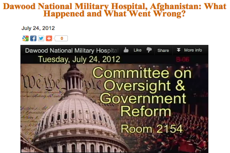 <p>A screen shot taken from the Committee on Oversight and Government Reform website.</p>