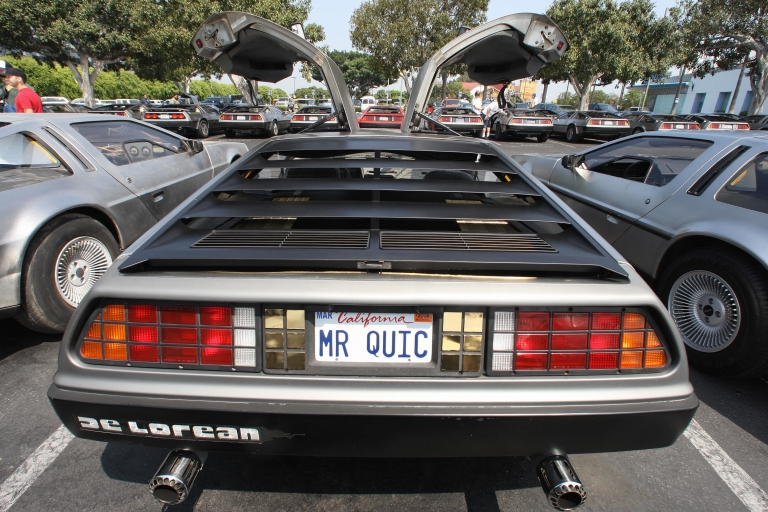 <p>Vintage DeLoreans at Universal Studios Hollywood in University City, Calif., in Aug. 2007.</p>