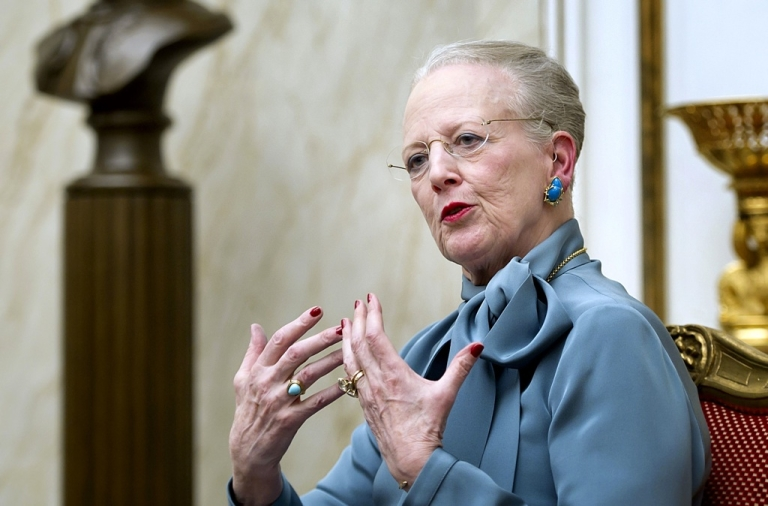 <p>Denmark's Queen Margrethe talks to the media on Jan. 10, 2012 during a press conference at Amalienborg Palace in Copenhagen prior to the celebration of the Queen's 40th Jubilee.</p>