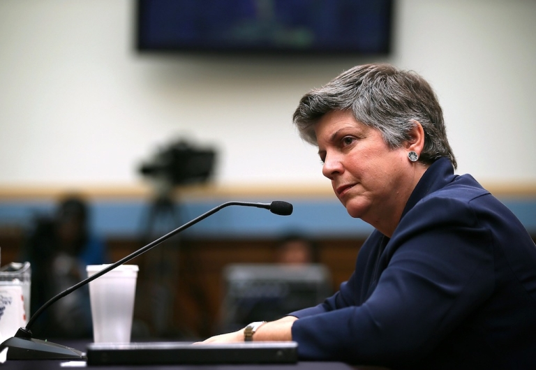 <p>U.S. Homeland Security Secretary Janet Napolitano testifies during a hearing before House Judiciary Committee July 19, 2012 on Capitol Hill in Washington, DC. The hearing was focused on