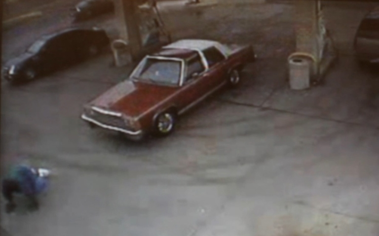 <p>Surveillance video shows the carjacking victim crawling for help.</p>