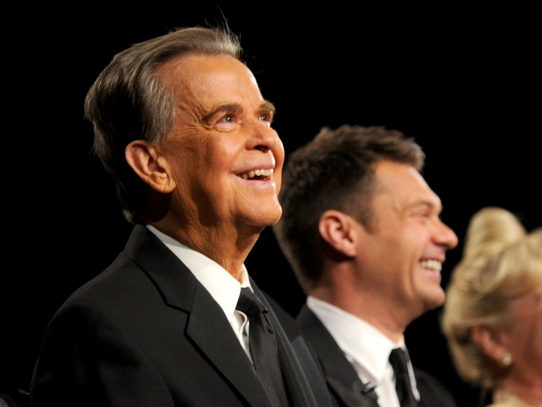<p>LAS VEGAS - JUNE 27: TV personalities Dick Clark (L) and Ryan Seacrest attend the 37th Annual Daytime Entertainment Emmy Awards held at the Las Vegas Hilton on June 27, 2010 in Las Vegas, Nevada.</p>