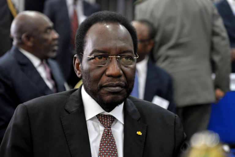 <p>Mali's interim leader Dioncounda Traore is pictured on May 3, 2012 during the opening of the 15-nation Economic Community of West African States (ECOWAS) talks. Traore was reportedly taken to a hospital after being beaten by protesters and suffering from head injuries on May 21, 2012.</p>