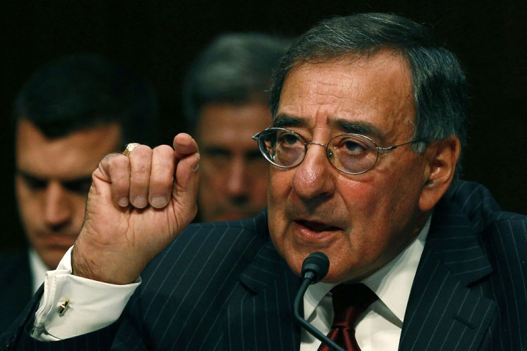 <p>Defense Secretary Leon Panetta speaks during a Senate Armed Services Committee hearing on November 15, 2011 in Washington, DC.</p>