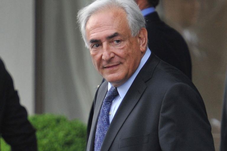 <p>International Monetary Fund Managing Director Dominique Strauss-Kahn leaves the Second Annual Conference of International Monetary Fund on May 10, 2011 in Zurich, Switzerland.</p>