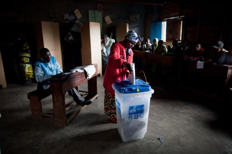 <p>Voters in the Democratic Republic of Congo headed to the polls Monday, Nov. 28, 2011.</p>