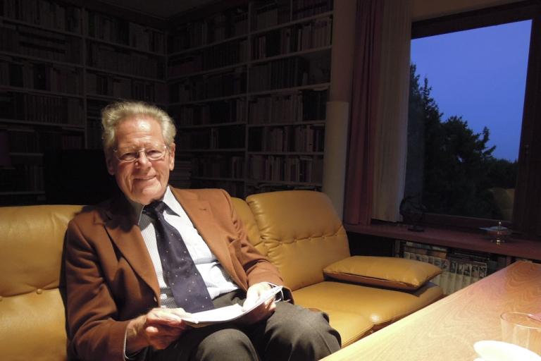 <p>Hans Küng in his office in Tübingen, Germany.</p>