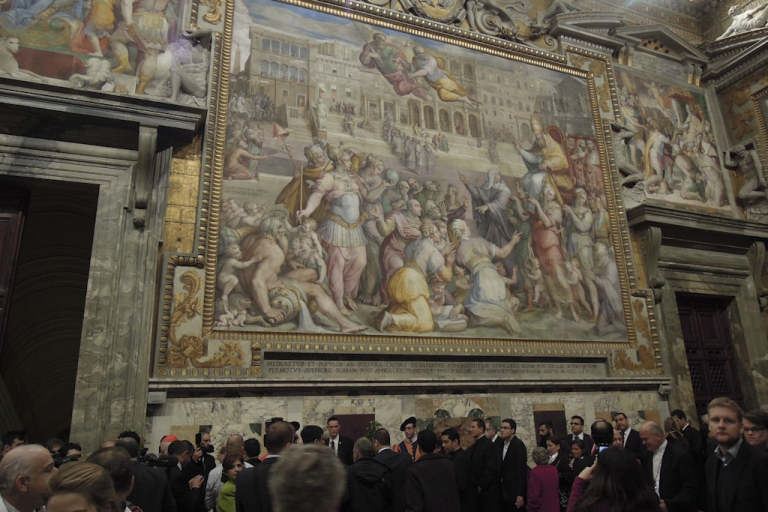 <p>A hall in the Apostolic Palace in the Vatican, at a reception for new cardinals, November 24, 2012.</p>