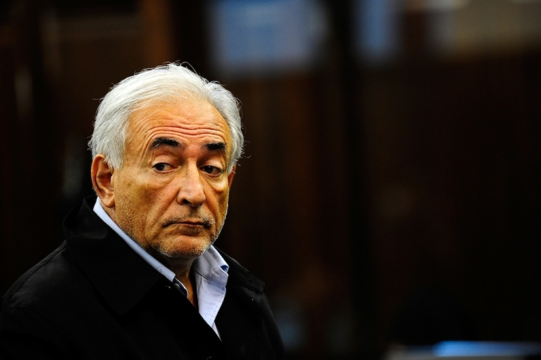 <p>International Monetary Fund chief Dominique Strauss-Kahn appears for his arraignment in federal court May 16, 2011, in New York City.</p>