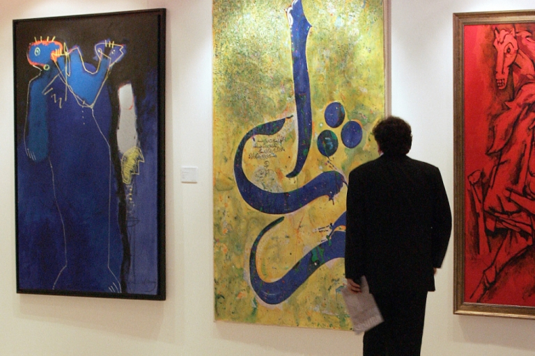 <p>A gallery in Dubai where the respected Christie's auction house held an event on modern and contemporary Middle Eastern art. Christie's opened its Dubai office in 2005.</p>