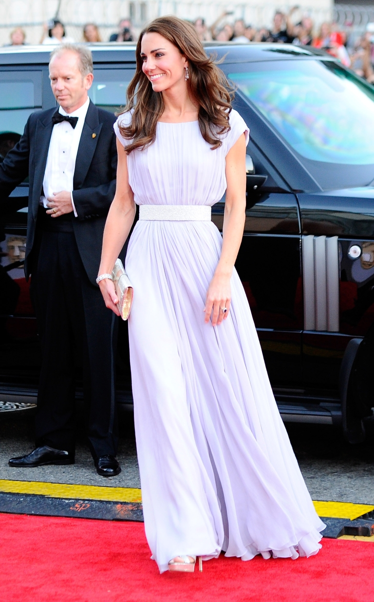 <p>Catherine, Duchess of Cambridge arrives at the BAFTA Brits To Watch event held at the Belasco Theatre on July 9, 2011 in Los Angeles, California.</p>