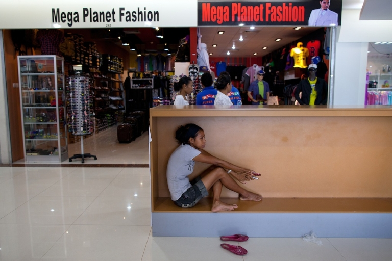 <p>This shopping mall, Timor Plaza, is a sign of progress, but many East Timorese returning from abroad still find themselves overqualified for the jobs available.</p>