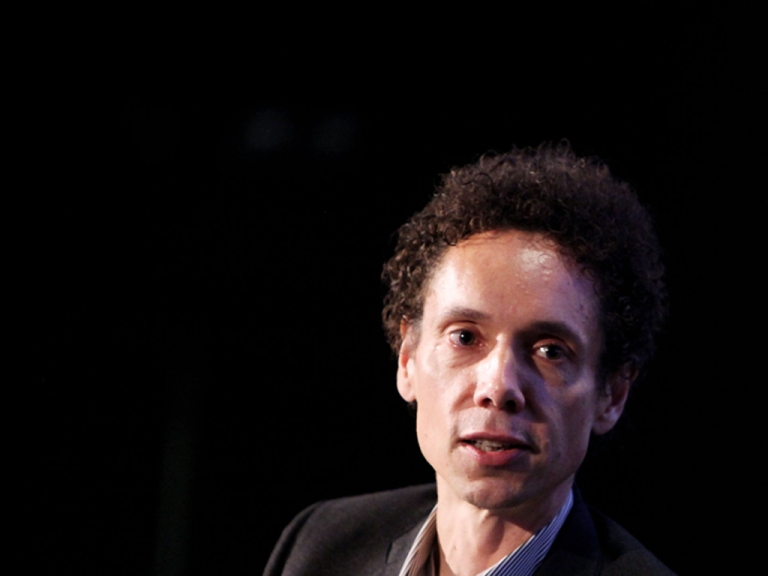 <p>Journalist Malcolm Gladwell speaks at the 2010 New Yorker Festival in New York City.</p>
