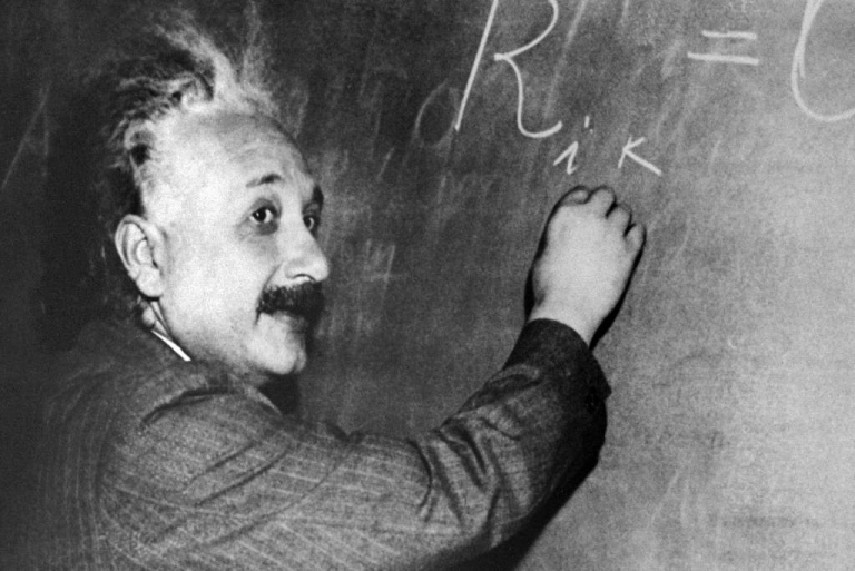 <p>An undated portrait of Albert Einstein (1879-1955).</p>