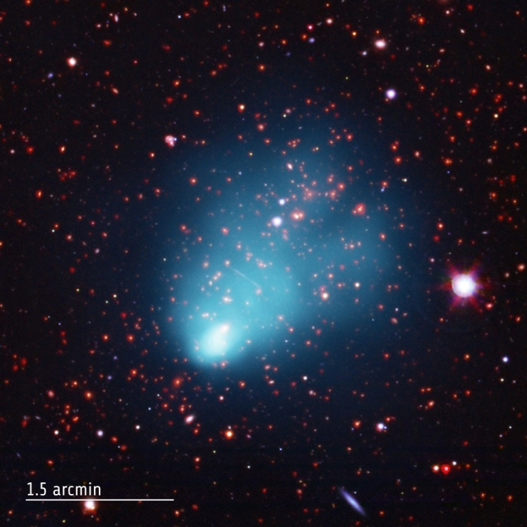 <p>This galaxy cluster, which has been nicknamed