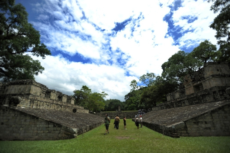 <p>Tourists are seen at the Copan ruins. Doomsday tourists are expected to flock to Copan, an ancient Mayan ruin, before Dec. 21, 2012, which some believe the Mayans predicted to be the end of the world.</p>