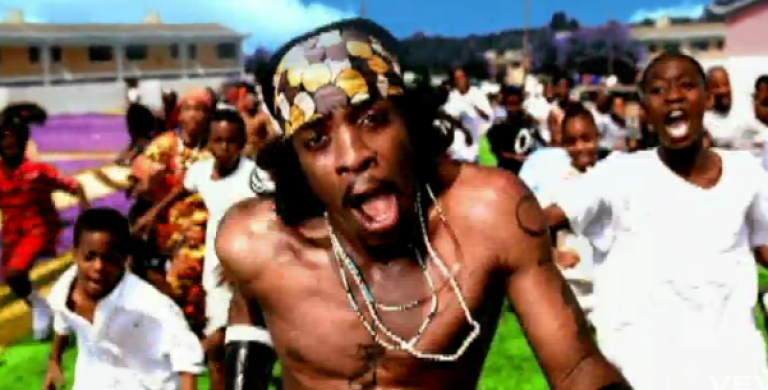 <p>Andre 3000 performing in the video for Outkast's 2000 single