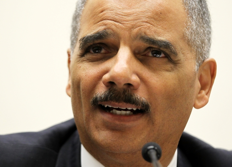 <p>US Attorney General Eric Holder testifies during a hearing on the oversight of the Justice Department before the House Judiciary Committee in Washington, DC, on Dec. 8, 2011.</p>