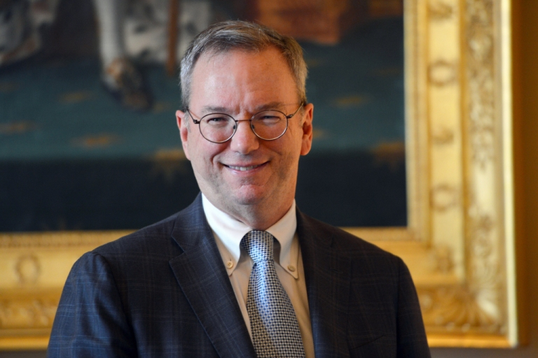 <p>Google executive chairman Eric Schmidt Oct. 29, 2012 in Paris.</p>