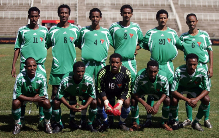 <p>In December 2009 a dozen players from Eritrea's national football team (above) went missing after a competition in Kenya and on Monday half of Eritrean club side Red Sea FC pulled the same trick disappearing after a tournament in Tanzania.</p>