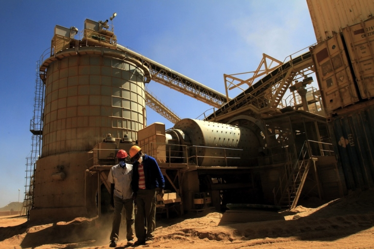 <p>Gold mines in Eritrea (like this one pictured in Sudan) have been accused of using forced labor in a new report by Human Rights Watch. The Eritrean government forces all able-bodied men and most women into a national service system and sometimes