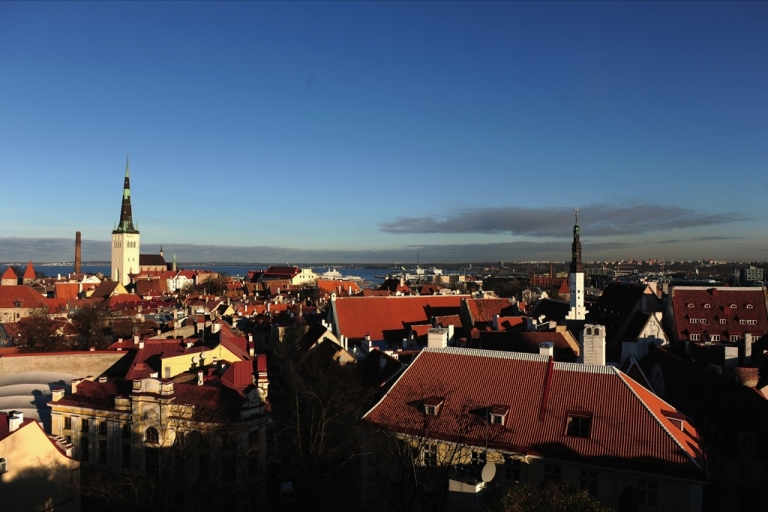 <p>A general view of the medieval city of Tallinn on November 10, 2011 in Tallinn, Estonia. As the rest of the euro zone suffers from a debt crisis, Estonia's economy is red-hot.</p>