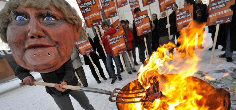 <p>Some Germans still see the move as throwing more of their hard-earned euros on the fire.</p>